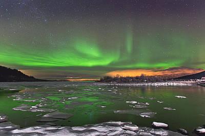 Canon Eos 5d Mark Iii Photograph - Ice And Auroras by Frank Olsen