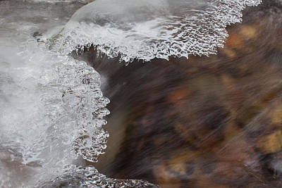 Photograph - Ice And Flow 2 by Fran Riley