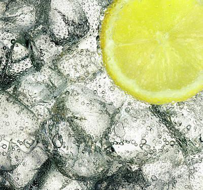 Ice And Lemon Art Print by Anthony Bradshaw
