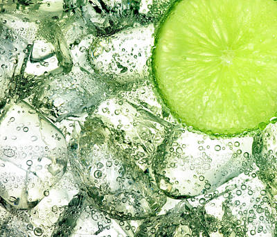 Ice And Lime Art Print by Anthony Bradshaw