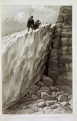 Land Feature Photograph - Ice And Rock by British Library