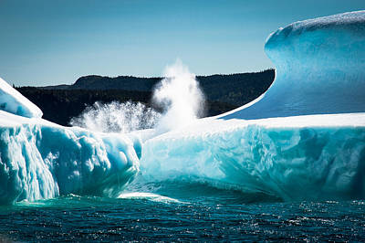 Photograph - Ice And Surf by David Pinsent