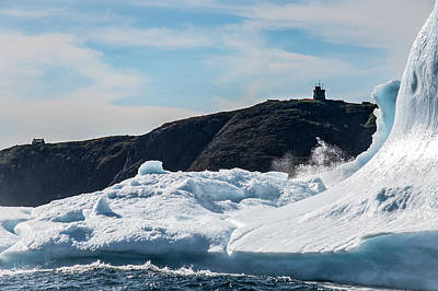 Photograph - Ice And Surf Iv by David Pinsent