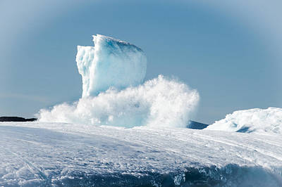 Photograph - Ice And Surf V by David Pinsent