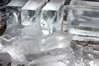 Photograph - Ice Blocks by Diane Alexander