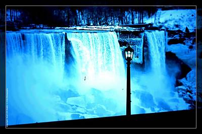 Photograph - Ice Blue Falls by Al Fritz
