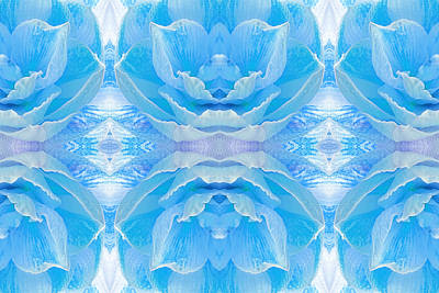 Amarylis Photograph - Ice Blue Mosaic by Gill Billington