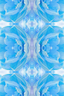 Amarylis Photograph - Ice Blue Mosaic - Vertical by Gill Billington