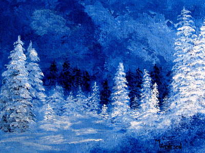 Painting - Ice Blue Winter by Mary Arneson