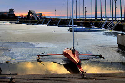 Photograph - Ice Boat At Olympic Harbour by Jim Vance