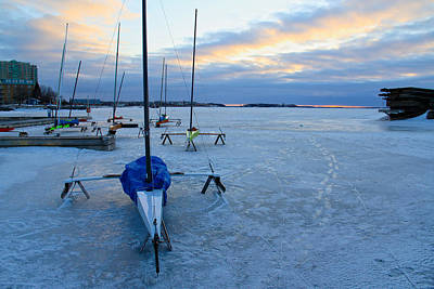 Photograph - Ice Boats At Kyc by Jim Vance