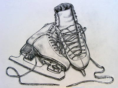 Ice Boots Print by Julie Hull