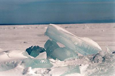 Ice Art Print by Brady D Hebert