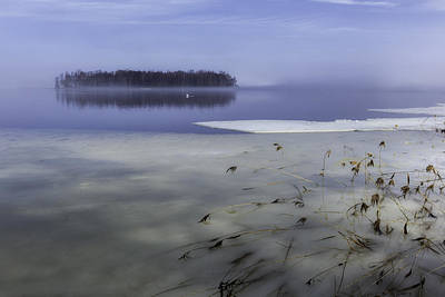 Thawing Time Photograph - Ice Breakup On The Lake by Ludwig Riml