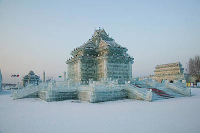Ice Building At The Harbin Art Print by Panoramic Images