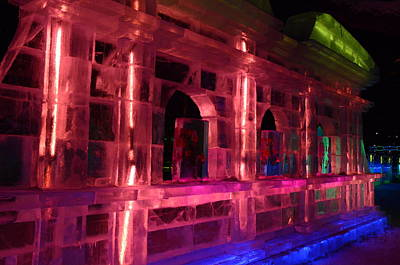 Photograph - Ice Building by Brett Geyer