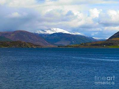 Photograph - Ice Capped Mountains At Ullapool by Joan-Violet Stretch