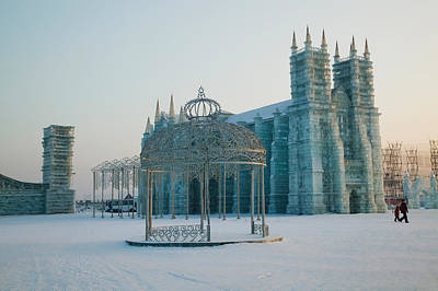 Ice Cathedral At The Harbin Art Print by Panoramic Images