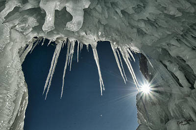 Photograph - Ice Cave by A Hint of Color Photography
