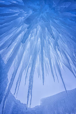 Photograph - Ice Cave by Darren  White