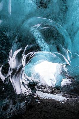 Cavern Photograph - Ice Cave Entrance by Dr Juerg Alean