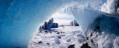 Ice Cave On A Polar Landscape, Gigja Art Print by Panoramic Images