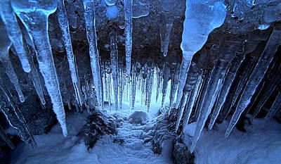 Photograph - Ice Cave by Phil Koch