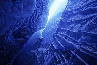 Ice Cave Spencer Glacier Kenai Art Print by Calvin Hall