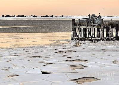 Photograph - Ice Chunks At State Pier by Janice Drew