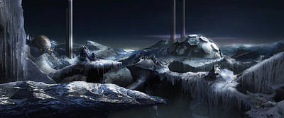 Digital Art - Ice City by Virginia Palomeque