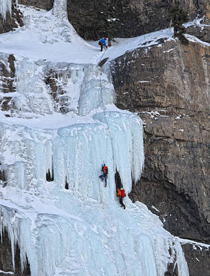 Photograph - Ice Climbing by Utah Images