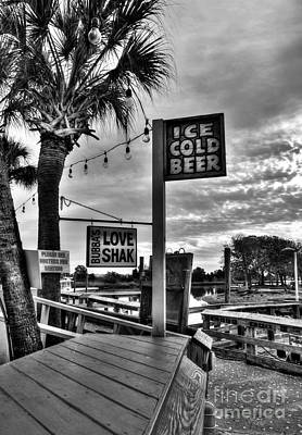 Photograph - Ice Cold Beer Bw by Mel Steinhauer
