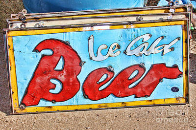 Photograph - Ice Cold Beer Sign by Audreen Gieger