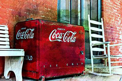 Coca-cola Antique Ice Chest Photograph - Ice Cold Coca Cola by Benanne Stiens