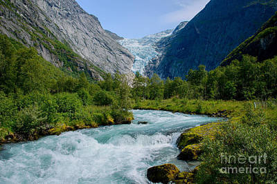 Norway Photograph - Ice Cold Water From Glacier by Gry Thunes