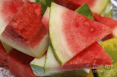 Photograph - Ice Cold Watermelon Slices 2 by Andee Design