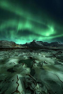 Frost Photograph - Ice Cracking by Javier De La