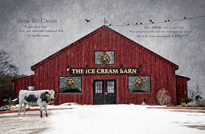 Photograph - Ice Cream Barn by Robin-Lee Vieira