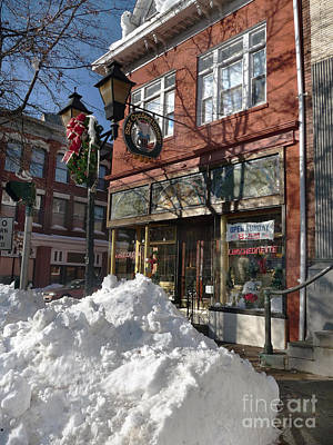 Photograph - Ice Cream Parlor After Blizzard by Steven Spak