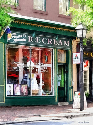 Photograph - Alexandria Va - Ice Cream Parlor by Susan Savad