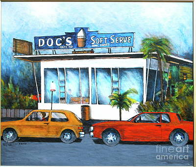 Ice Cream Restaurant In Delray Beach Fl Art Print