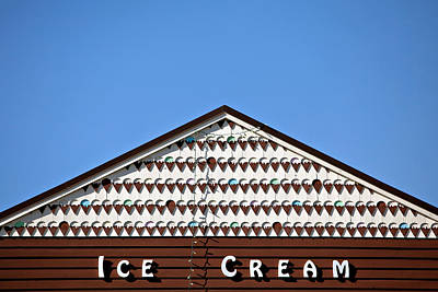 Ice Out Photograph - Ice Cream Shop by Art Block Collections