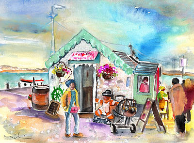 Painting - Ice Cream Shop In Ireland by Miki De Goodaboom