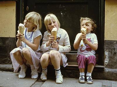 Ice Cream Treat 1980s Art Print by David Davies