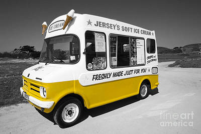 Food Truck Photograph - Respect To The Man In The Ice Cream Van  by Rob Hawkins