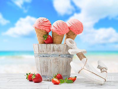 Blurred Background Photograph - Ice Creams On Vacation by Amanda Elwell