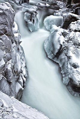 Ice Creek Cascade Art Print by Darren  White