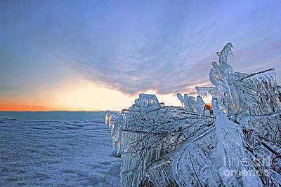 Photograph - Ice Crystal In Twilight by Charline Xia