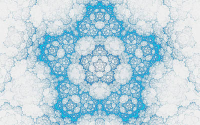 Art Print featuring the digital art Ice Crystals by GJ Blackman