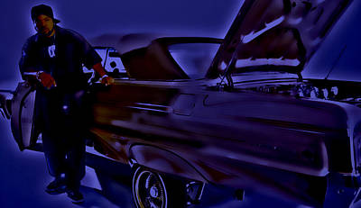 Ice Cube And His Chevy Impala Art Print